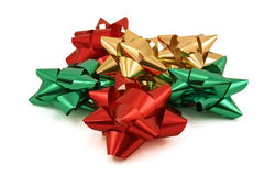 Holiday Bows. Isolated against a white background royalty free stock image