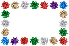 Holiday Bows Frame Stock Images