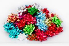 Holiday Bows Pile Background Stock Photo