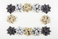 Holiday bows on white background Stock Photography