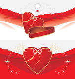Holiday box with strasses. Decorative backgrounds Stock Images
