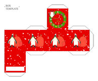 Holiday box template. Stock Images