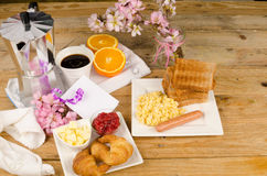 Holiday breakfast table Stock Photography