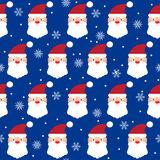 Holiday bright colored seamless pattern background with santa an Stock Photos