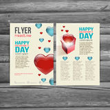 Holiday  Brochure Flyer design vector template. Royalty Free Stock Images