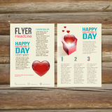 Holiday  Brochure Flyer design vector template. Stock Photos