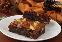 Holiday brownies Royalty Free Stock Image