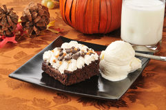 Holiday brownies Royalty Free Stock Images