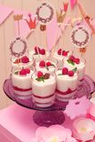 Holiday buffet souffle in glasses Stock Photo