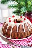 Holiday bundt cake Stock Images