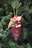 Christmas ornament on tree Royalty Free Stock Image