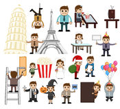 Holiday and Business Cartoon People Vectors Royalty Free Stock Image