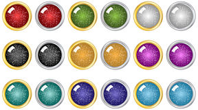 Holiday Buttons Stock Photography
