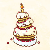 Holiday cake Royalty Free Stock Photography