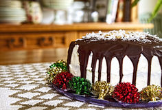HOLIDAY Cake in Country Kitchen Stock Images