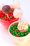Holiday Cake Pops Royalty Free Stock Photography
