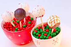 Holiday Cake Pops Royalty Free Stock Images