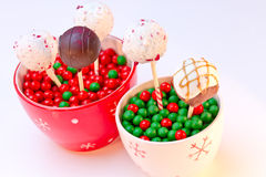 Holiday Cake Pops Stock Photos