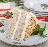 Holiday Cake Slice Stock Photo