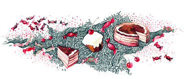 Holiday cakes Stock Images