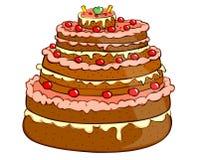 Holiday cakes stock photos