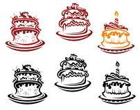Holiday cakes and pies Royalty Free Stock Images