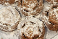 Holiday cakes in powdered sugar Royalty Free Stock Photography