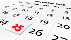 Holiday Calendar Royalty Free Stock Photos