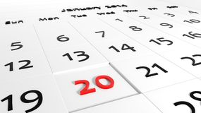 Holiday Calendar Royalty Free Stock Photo