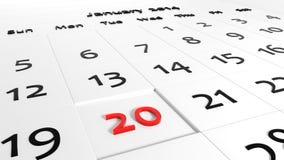 Holiday Calendar Royalty Free Stock Photo