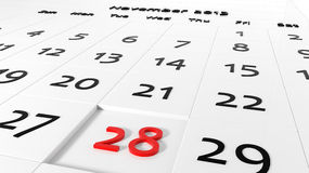 Holiday Calendar Royalty Free Stock Images