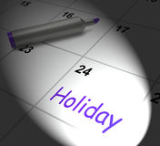 Holiday Calendar Displays Rest Day And Break From Work Stock Photos