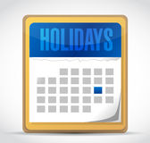Holiday calendar illustration Stock Image