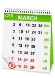 Holiday calendar in 8 March Stock Images
