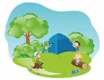 On a holiday camp Royalty Free Stock Image