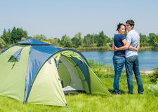 Holiday camping Stock Photography