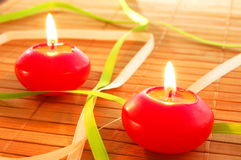 Holiday candle Stock Photo