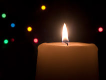 Holiday Candle Royalty Free Stock Images