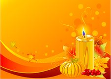 Holiday candle background Royalty Free Stock Image