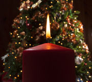 Holiday candle Royalty Free Stock Photos