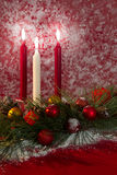 Holiday Candle Decoration Stock Photos