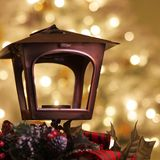 Holiday candle setting Stock Image