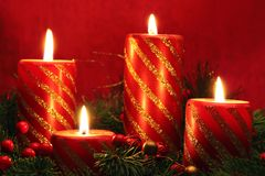 Holiday candles Stock Images