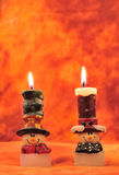 Holiday candles Royalty Free Stock Images
