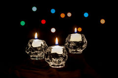 Holiday Candles and Lights Stock Photo