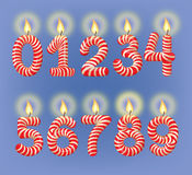 Holiday candles numbers Royalty Free Stock Images