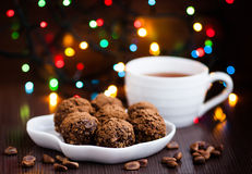 Holiday Candy. With colorful lights Stock Images