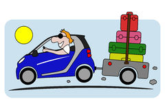 Holiday on car vector illustration