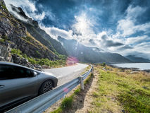Holiday by car. This picture demonstrates a nice holiday roadtrip by a car Royalty Free Stock Image