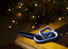 Holiday carabiners and piton Stock Image